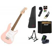 Starterset E Gitarre Squier Mini Strat Shell Pink