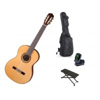 Starterset Konzertgitarre Aranjuez A8F Solid Spruc