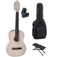 Starterset Konzertgitarre Premium Sil  Ahorn 7 8