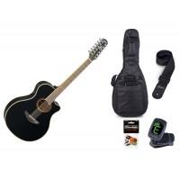 Starterset Westerngitarre Yamaha APX 700 II 12 Bla