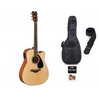 Starterset Westerngitarre Yamaha FGX 800 C Natural