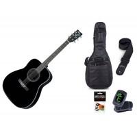 Starterset Westerngitarre Yamaha F 370 BL Black