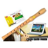 Voggenreiter Flute Master App mit Blockfl    te Ahorn