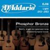 D'Addario EFT16 Ac. Ph Bronze Semi Flat .012-.053