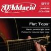 D'Addario EFT17 Ac. Ph Bronze Semi Flat .013-.056