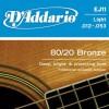 D'Addario EJ11 Ac. Bronze Wound .012-.053