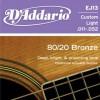 D'Addario EJ13 Ac. Bronze Wound .011-.052