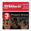 D'Addario EJ17-3D Ac. Phosphor Bronze .013-.056