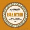 D'Addario EJ32 Folk Black Nylon Copper Ball End
