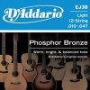 D'Addario EJ38 Ac. Ph Bronze .010 - .047 12 String