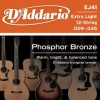 D'Addario EJ41 Ac. Ph Bronze .009 - .045 12 String