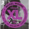 D'Addario EXL120 3D Pack à 3 Sätze EXL120