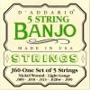 D'Addario J60 Banjo Strings nickel light 9-20
