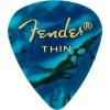 Fender Picks 351 Shape Ocean Turquoise Thin 12 Stk