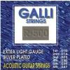 Galli R500 light gauge 010-047 silver plated