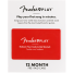 Fender Play Card 12 Month Access Online Lessons